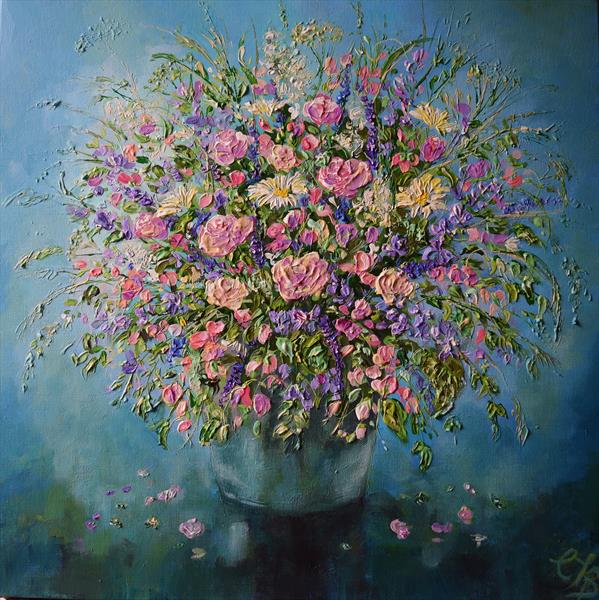Flowers  from the Farm by Colette Baumback
