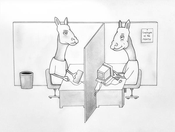 Llama Office by Luke Price