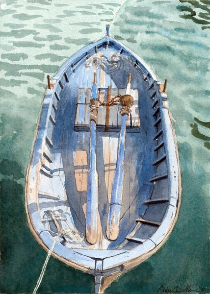 Spoon-sterned Fishing Boat, Sousse by Andrew Dibben