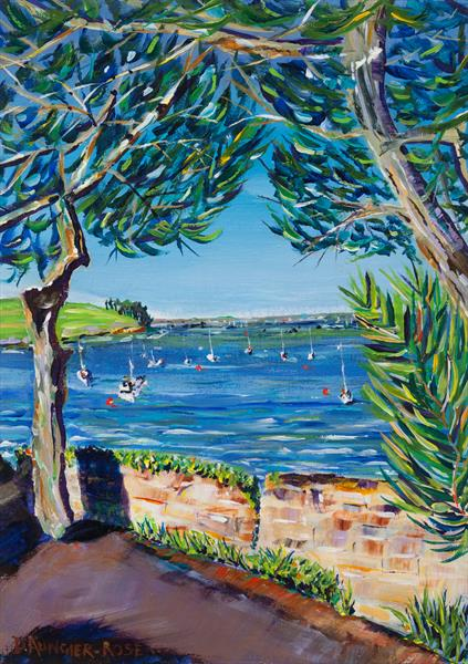 ST MAWES MOORINGS #2 by Diana Aungier - Rose