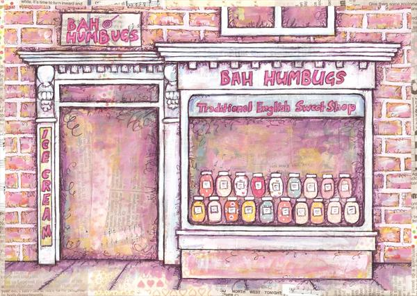 Bah Humbugs Sweet Shop by Ruth Bilham