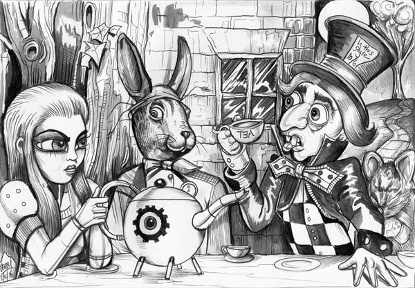 The Mad Hatter's Tea Party by Spencer John Derry