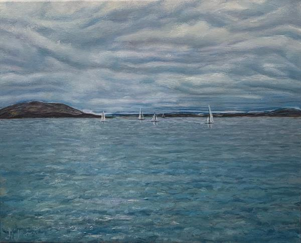 Oslofjord. Moment before the storm by Anastasia Jankovic