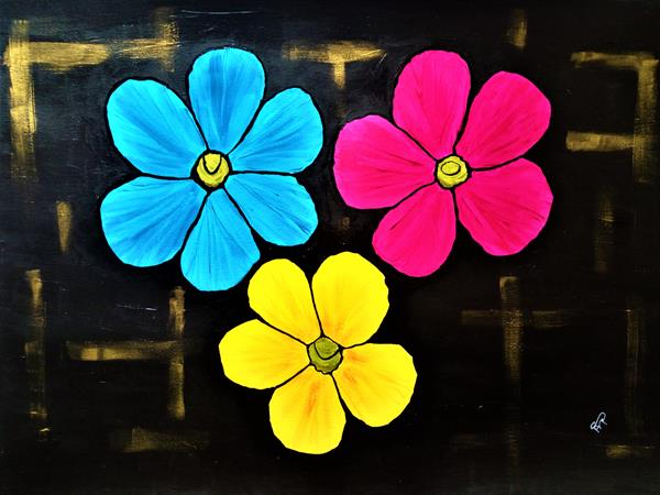 Of Course I Can Paint Flowers by Sue  Mobbs