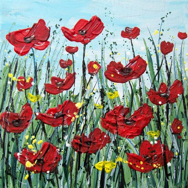 Field of Poppies by Patricia Richards