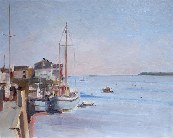 Topsham Quay by Michael Parkinson