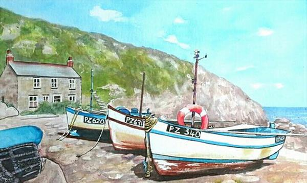 Penberth Cove by Maureen Crofts