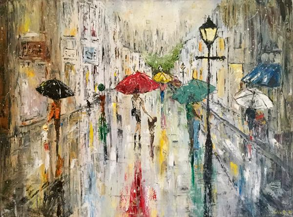 City suburb and summer showers  by Pippa Buist
