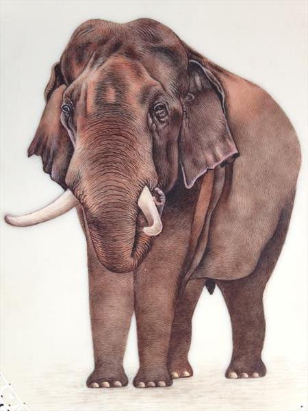 Beautiful Elephant natural look fine art by Pratibha jain