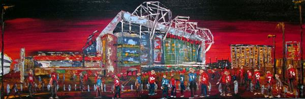 Manchester United by Night by Andrew Alan Matthews