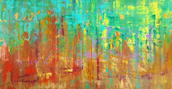 Windy in Alaska -XXL abstract paiting by Ivana Olbricht