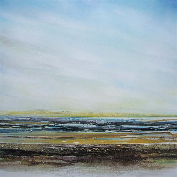 Druridge Bay Rhythms Textures & Driftwood 1a by Mike Bell
