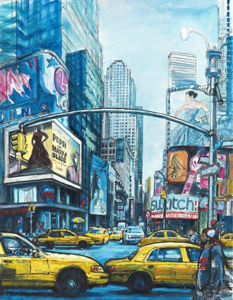 New York on Broadway (Giclee Print)