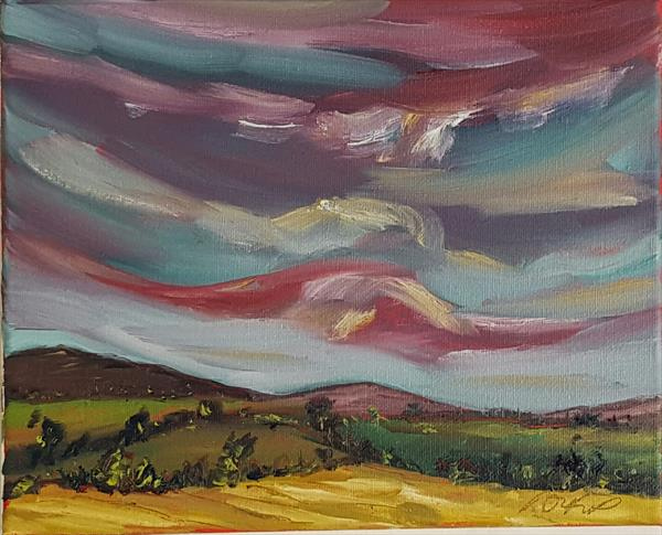Evening falls over the rolling fields of Wicklow by niki purcell