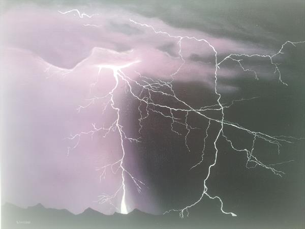 Purple lightning storm by Will Hobday