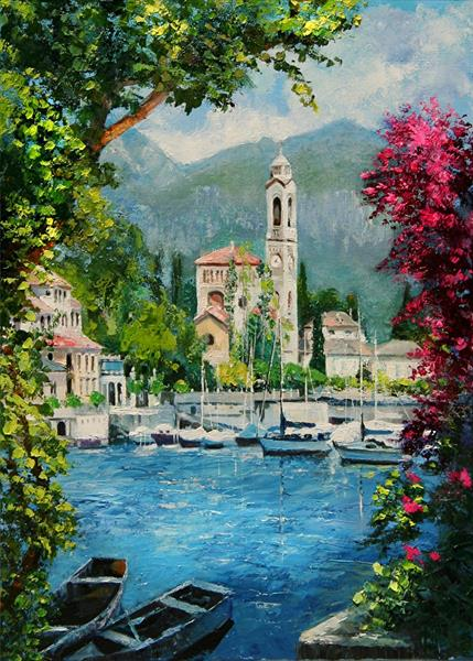 Bellissimo Como, collectible ACEO print by Yary Dluhos