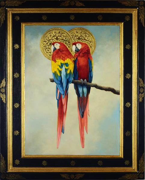 'Bird Of Paradise' (two macaws) by John Afflick