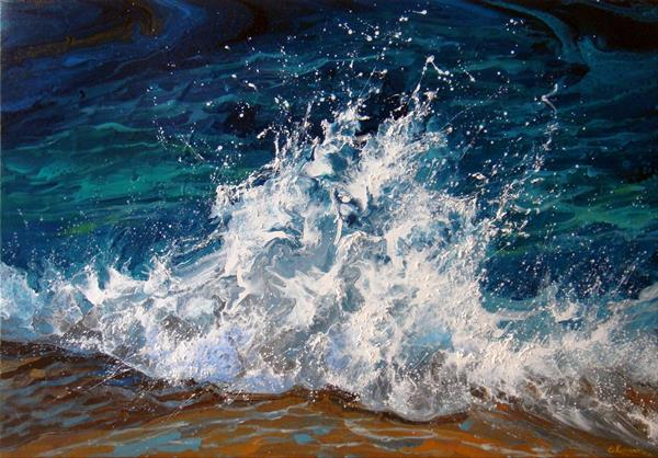 SEASCAPE LARGE Painting by Irini Karpikioti