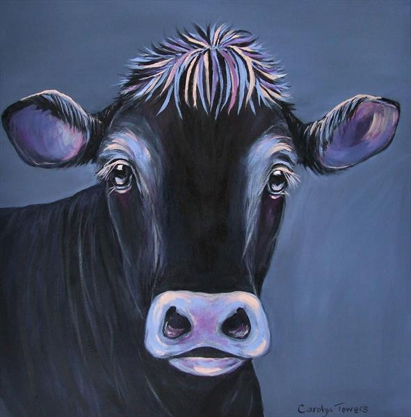 A moo in the dark..  by Carolyn Towers