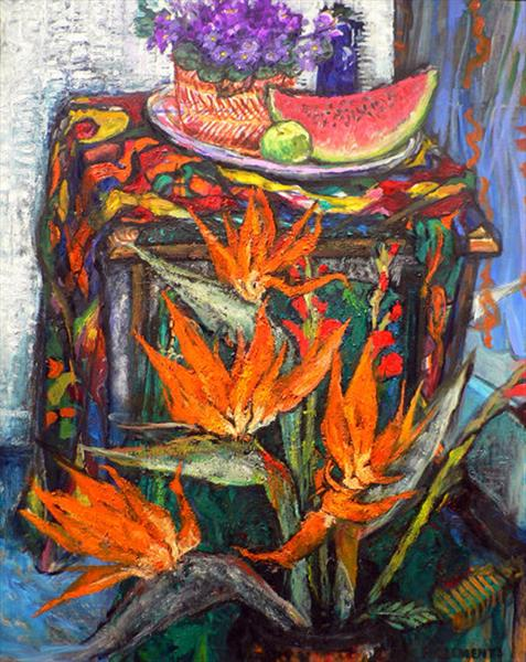 Bird of Paradise still life by Patricia Clements