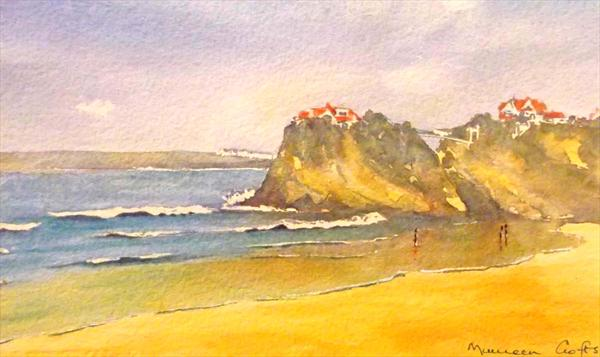 Newquay Cornwall (Mounted) by Maureen Crofts