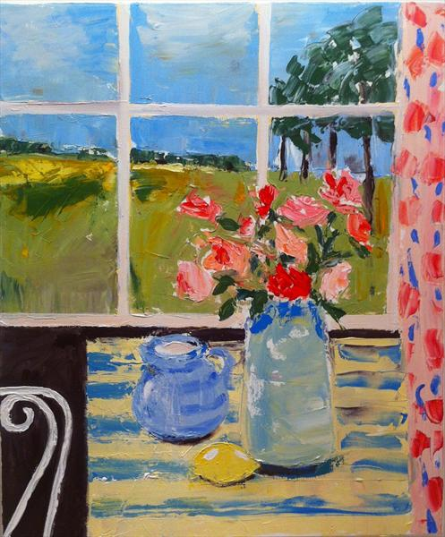 View From the Summerhouse - SALE by Jan Rippingham