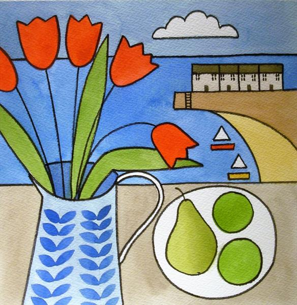 Tulips by the Sea by Jan Rippingham