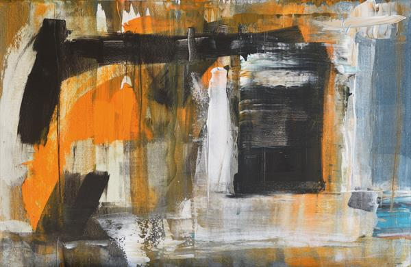 Black, Orange, Rectangle by Milena Blaziak Cooke