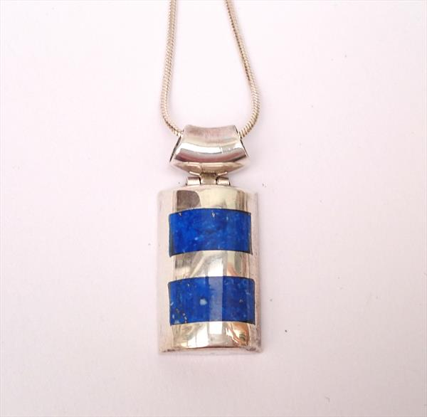 Pendant lapis lazuli and silver by Susana Zarate