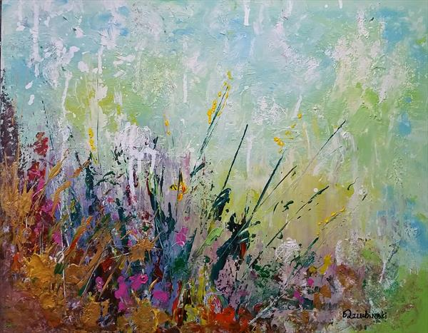 """Meadow in the morning  20""""x16"""""""
