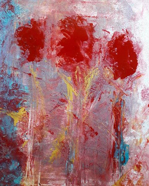 Abstract Flowers by Angela Conway