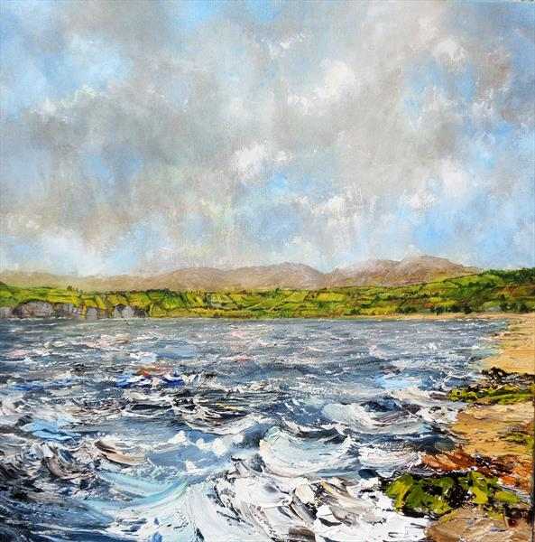 A Windy day On The Anglesey Coast - stormy sea, waves, beach by Nathan Jones