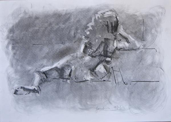Female Nude -Life Study No 221 by Ian Mckay