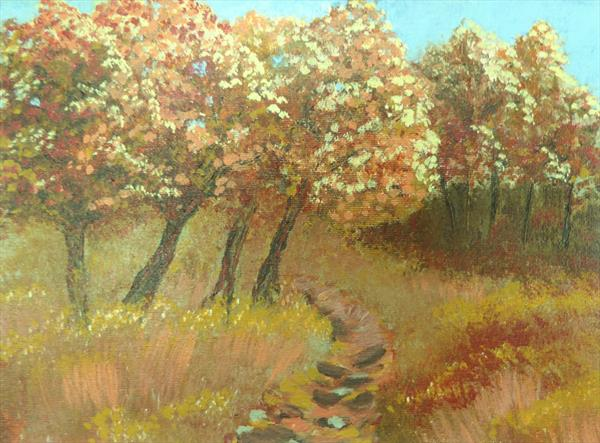 October Trees by Elaine Allender