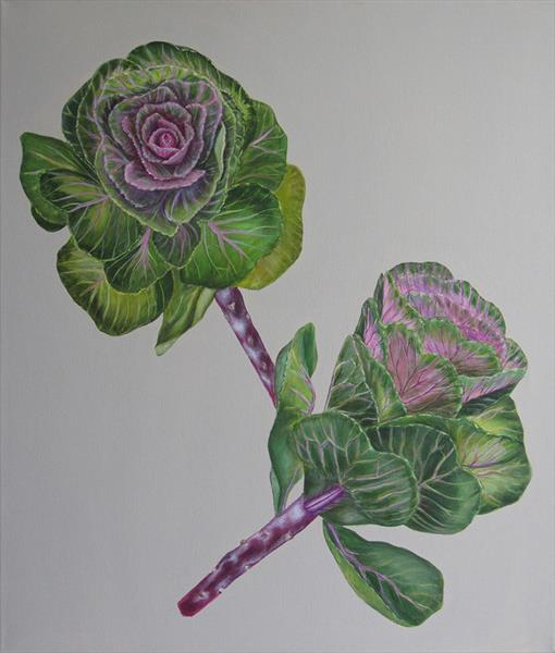 Ornamental Cabbages by Jacqueline Talbot