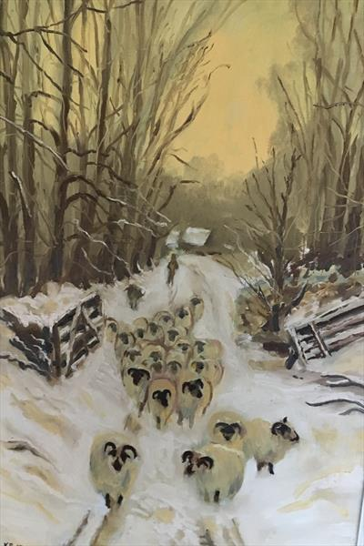 SHEEP IN THE WOODS by Keith Bell
