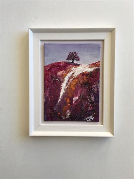 The Lone Tree in a white frame by Marja Brown