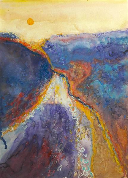 Valley at Sunset by Teresa Tanner