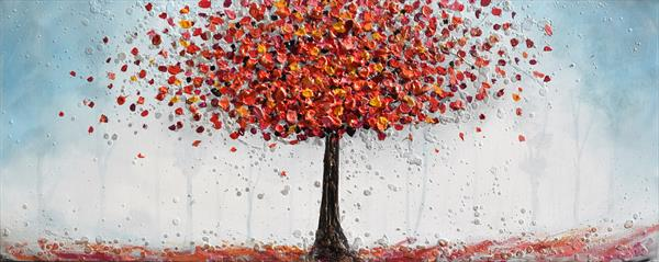 Red tree in the Forest by Amanda Dagg