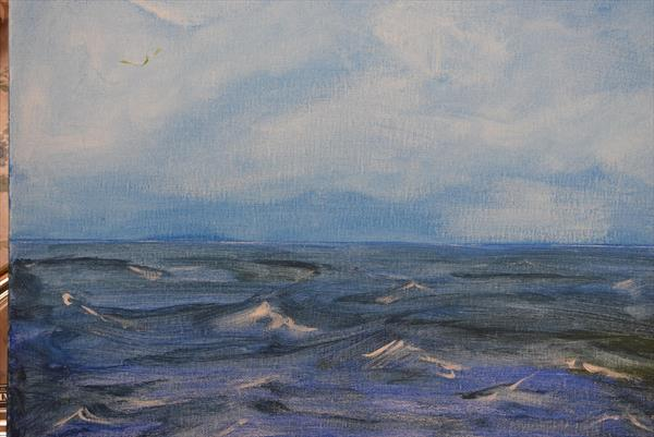Blue Seascape by Susan  Neate
