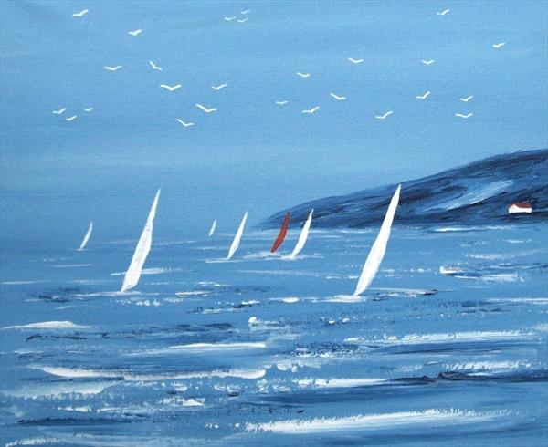 Summer Sail Boats 2# by Patricia Richards