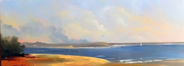Shell Bay, Studland, Poole - Panoramic by Elizabeth Williams