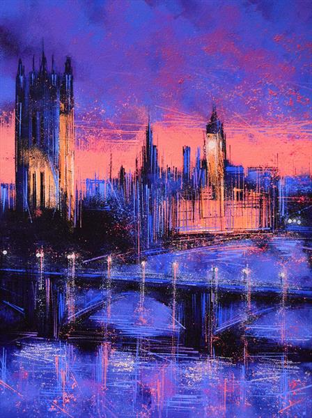 London at Night by Marc Todd