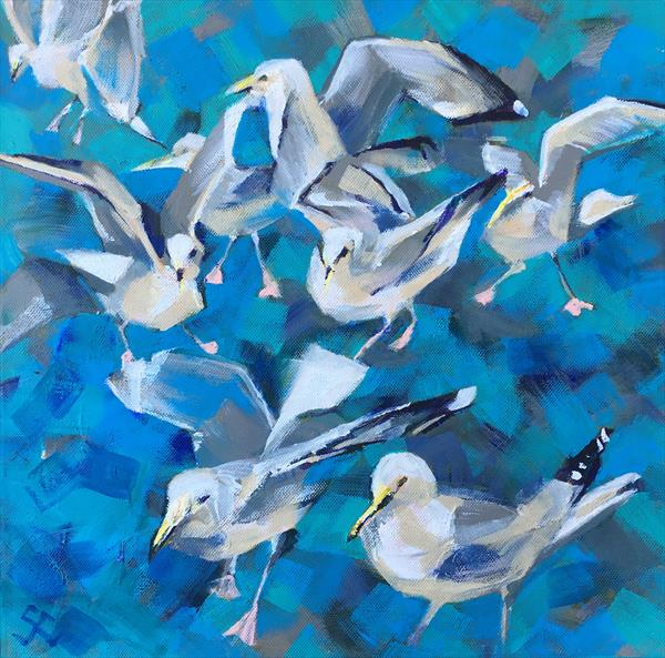 Seagulls by Susan Clare