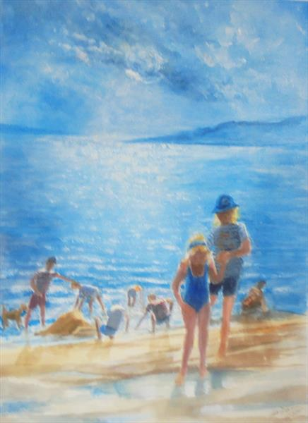EVENING ON THE BEACH by John Davies