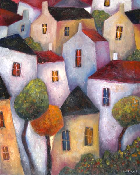 windows, roofs, trees by Jeremy Mayes