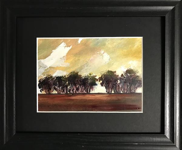 As the leaves begin to fall ( framed original oil) by Sarah Gill