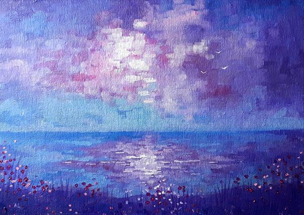 Purple Sky by Angie Livingstone