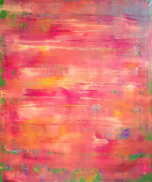 The Sun in the grass  - XL colorful abstract by Ivana Olbricht