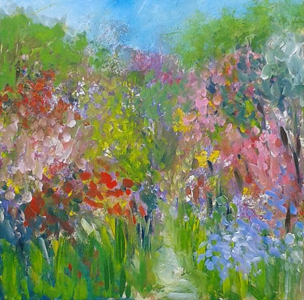 An English Country Garden by Jan Rippingham